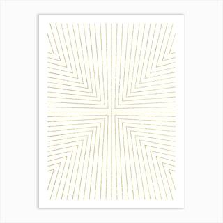 Converge Light Gold Art Print