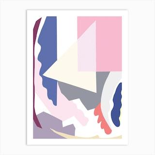 Pink Abstract Art Print