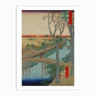 Koume Embankment, Utagawa Hiroshige Art Print