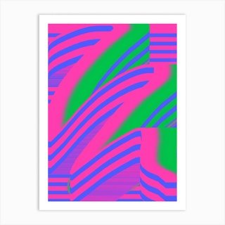 Watermelon Swish Art Print
