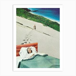 The Lover On The Beach Art Print