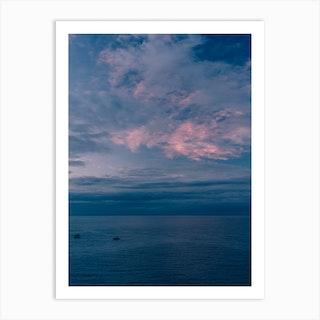 Positano Sunset Art Print