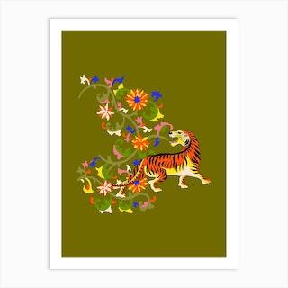 Tiger Tapestry Art Print