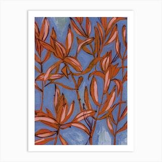 Everything Dances In Blue Art Print