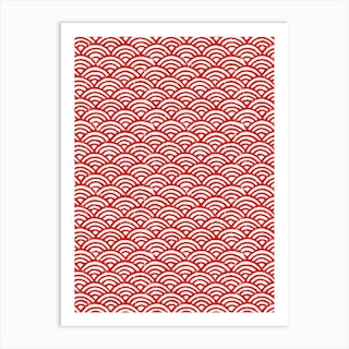Red Semicircle Art Print