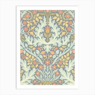 Autumn Flowers, William Morris Art Print
