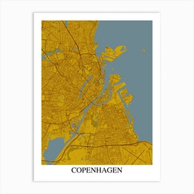 Copenhagen Yellow Blue Art Print