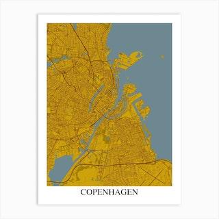 Copenhagen Yellow Blue Art Print