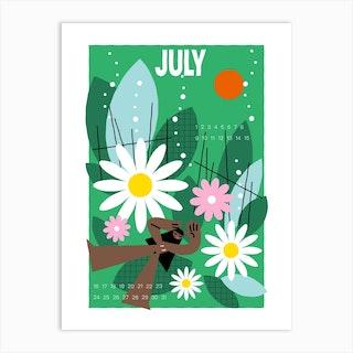 Hello July Art Print