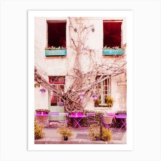 Au Vieux Paris Cafe Art Print
