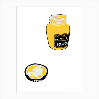 Maille Dijon Mustard Once Again Art Print