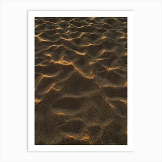 Oahu Sand Art Print