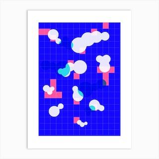 Hackney Swimming Pool Blue Art Print
