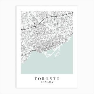 Toronto Canada Street Map Minimal Color Art Print