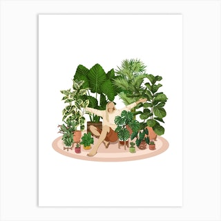 Mia The Plant Lover Art Print