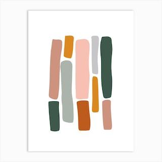 Rainbow Abstract 01 Art Print
