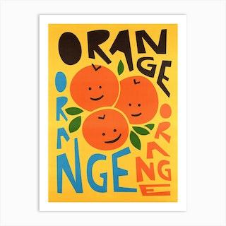 Happy Oranges Art Print
