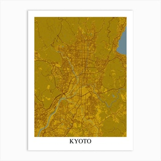 Kyoto Yellow Blue Art Print
