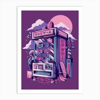 Retro Gaming Machine Art Print