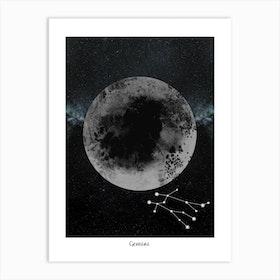 Zodiac Gemini Art Print
