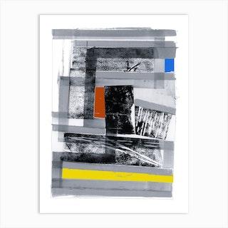 Black Multi 80s Three Art Print