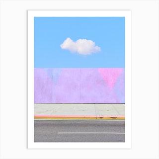 Lonely Pink Cloud Art Print
