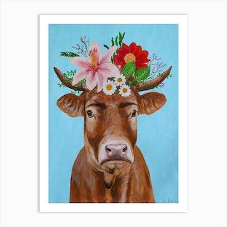 Frida Kahlo Cow Art Print