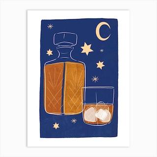 Midnight Whiskey Art Print