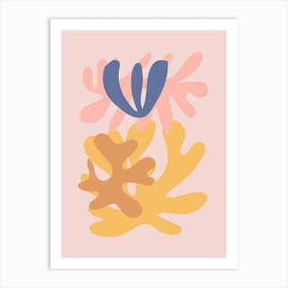 Cut Out Pink Art Print