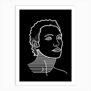 Model Man Black And White Art Print