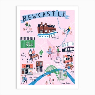 Newcastle Art Print