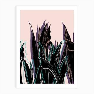 Leaves And Shadows Art Print