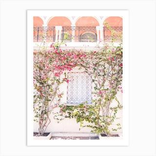 Pink Summer Flowers Art Print