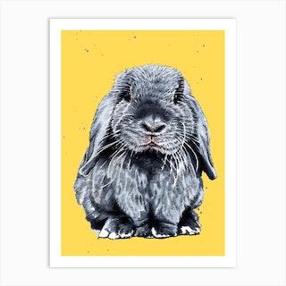 Grey One The Bunny Art Print