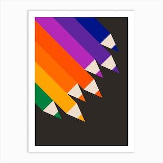 Pencils Up Art Print