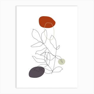 Talking About Botany Ii Art Print