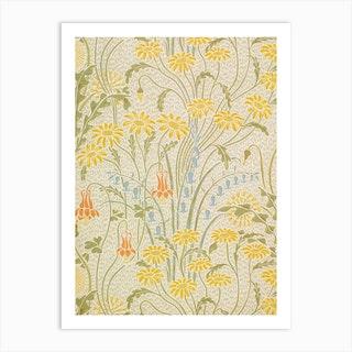 Meadow Flowers (Yellow) Art Print