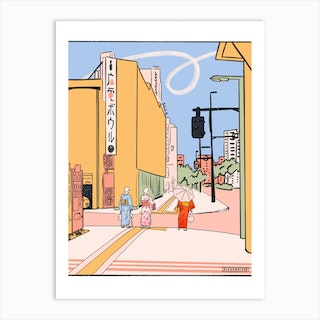 Yukata In Summer Art Print