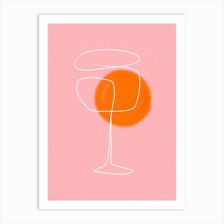 Spritz Drink Art Print