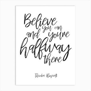 Roosevelt Quote Art Print