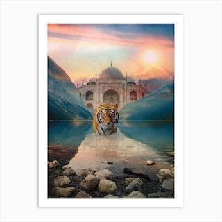 Tiger Temple Art Print