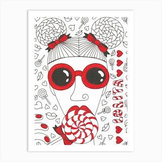 Lolita With Lollipop Art Print