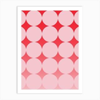 Circling Pink Art Print