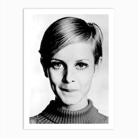 The Model Twiggy Art Print