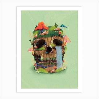 Enchanted Skull Art Print