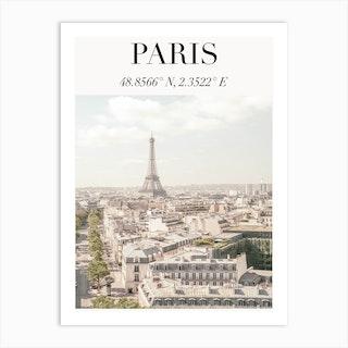 Paris Travel Poster Art Print