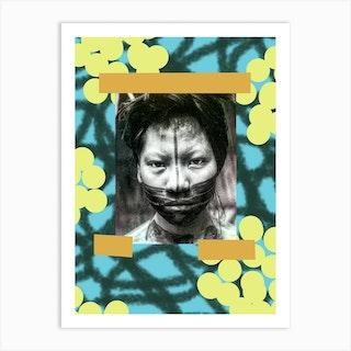 Boys Face Art Print
