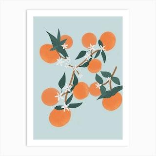 Orange Blue Art Print