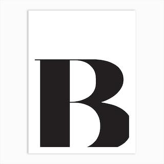 B Initial Art Print