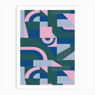 Outlandish Blocks Art Print